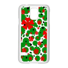 Red And Green Christmas Design  Samsung Galaxy S5 Case (white) by Valentinaart