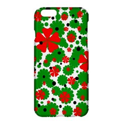 Red And Green Christmas Design  Apple Iphone 6 Plus/6s Plus Hardshell Case by Valentinaart