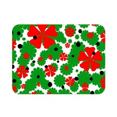 Red And Green Christmas Design  Double Sided Flano Blanket (mini)  by Valentinaart