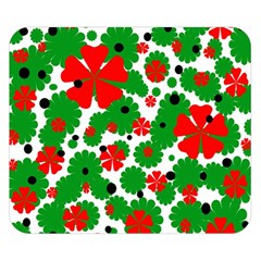 Red And Green Christmas Design  Double Sided Flano Blanket (small)  by Valentinaart