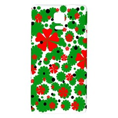 Red And Green Christmas Design  Galaxy Note 4 Back Case by Valentinaart