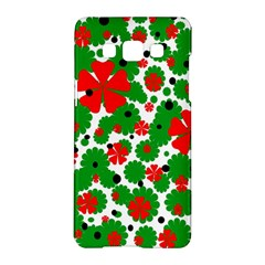 Red And Green Christmas Design  Samsung Galaxy A5 Hardshell Case  by Valentinaart