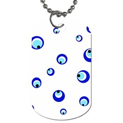 Mediterranean Blue Eyes Dog Tag (one Side) by Valentinaart