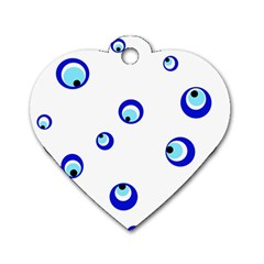 Mediterranean Blue Eyes Dog Tag Heart (two Sides) by Valentinaart