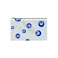 Mediterranean Blue Eyes Cosmetic Bag (small)  by Valentinaart