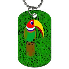 Toucan Dog Tag (two Sides) by Valentinaart