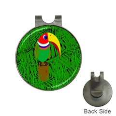 Toucan Hat Clips With Golf Markers by Valentinaart