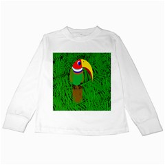Toucan Kids Long Sleeve T Shirts by Valentinaart