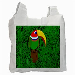Toucan Recycle Bag (two Side)  by Valentinaart
