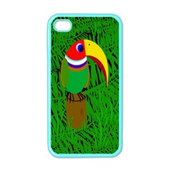 Toucan Apple Iphone 4 Case (color) by Valentinaart