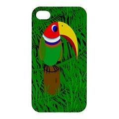 Toucan Apple Iphone 4/4s Premium Hardshell Case by Valentinaart