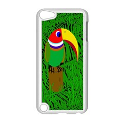 Toucan Apple Ipod Touch 5 Case (white) by Valentinaart