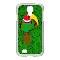 Toucan Samsung Galaxy S4 I9500/ I9505 Case (white) by Valentinaart