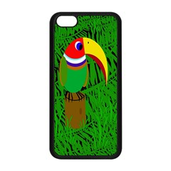 Toucan Apple Iphone 5c Seamless Case (black) by Valentinaart