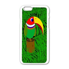 Toucan Apple Iphone 6/6s White Enamel Case by Valentinaart
