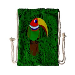 Toucan Drawstring Bag (small) by Valentinaart