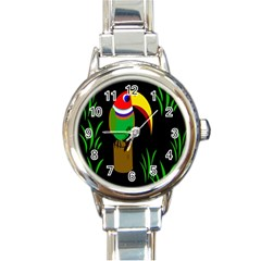 Toucan Round Italian Charm Watch by Valentinaart