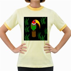 Toucan Women s Fitted Ringer T-shirts by Valentinaart