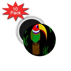 Toucan 1 75  Magnets (10 Pack)  by Valentinaart