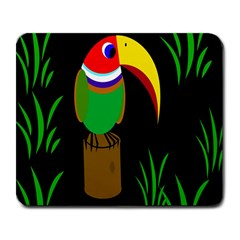 Toucan Large Mousepads by Valentinaart