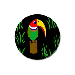 Toucan Magnet 3  (round) by Valentinaart