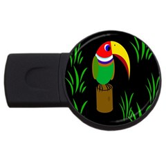 Toucan Usb Flash Drive Round (4 Gb)  by Valentinaart