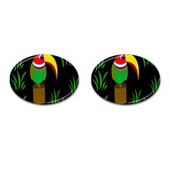Toucan Cufflinks (oval) by Valentinaart