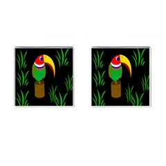 Toucan Cufflinks (square) by Valentinaart