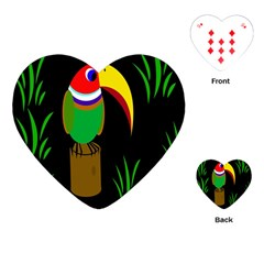 Toucan Playing Cards (heart)  by Valentinaart