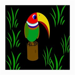 Toucan Medium Glasses Cloth (2 Side) by Valentinaart