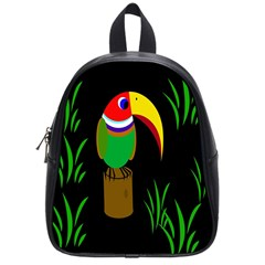 Toucan School Bags (small)  by Valentinaart