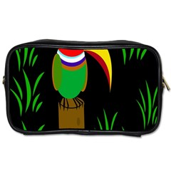 Toucan Toiletries Bags by Valentinaart