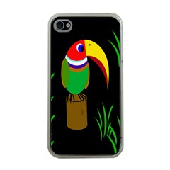 Toucan Apple Iphone 4 Case (clear) by Valentinaart