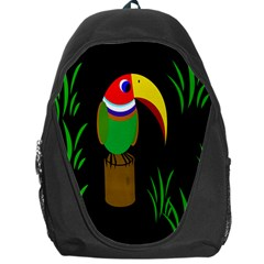 Toucan Backpack Bag by Valentinaart