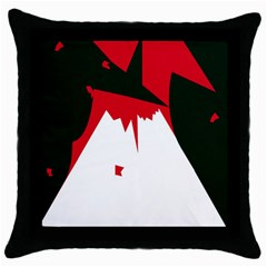 Volcano  Throw Pillow Case (black) by Valentinaart
