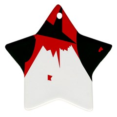 Volcano  Star Ornament (two Sides)  by Valentinaart