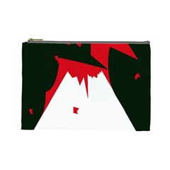Volcano  Cosmetic Bag (large)  by Valentinaart