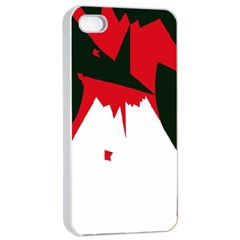 Volcano  Apple Iphone 4/4s Seamless Case (white) by Valentinaart