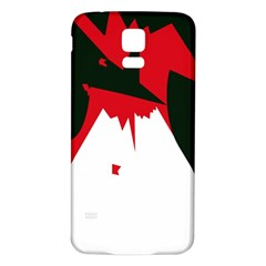Volcano  Samsung Galaxy S5 Back Case (white) by Valentinaart