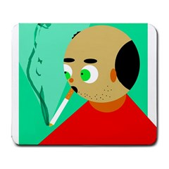Smoker  Large Mousepads by Valentinaart