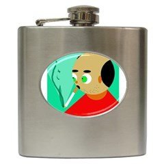 Smoker  Hip Flask (6 Oz) by Valentinaart