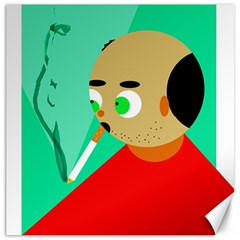 Smoker  Canvas 20  X 20   by Valentinaart