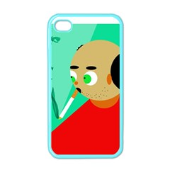 Smoker  Apple Iphone 4 Case (color) by Valentinaart