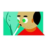 Smoker  ENGAGED 3D Greeting Card (8x4)  Back