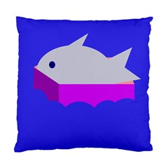 Big Fish Standard Cushion Case (one Side) by Valentinaart