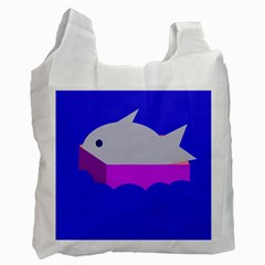 Big Fish Recycle Bag (two Side)  by Valentinaart