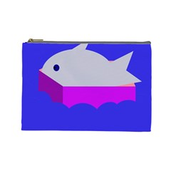 Big Fish Cosmetic Bag (large)  by Valentinaart