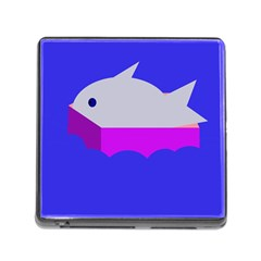 Big Fish Memory Card Reader (square) by Valentinaart