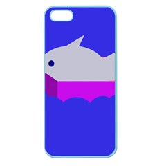 Big Fish Apple Seamless Iphone 5 Case (color) by Valentinaart