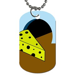 Cheese  Dog Tag (two Sides) by Valentinaart